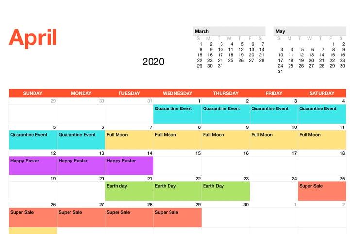 EK Event Schedule_April_2020