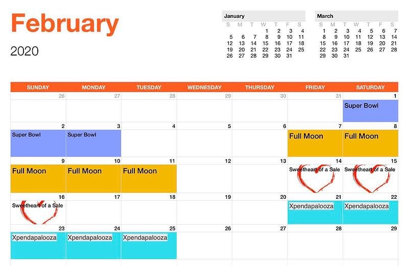 EK Event Schedule_February_2020