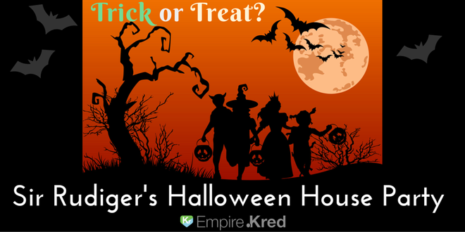 Join Sir Rudiger for 24 hours of fun, contests, trick or treating, missions, and a huge party in the treehouse.
