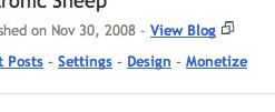 Blogger - Design Link