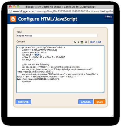 Blogger - Edit Badge Script