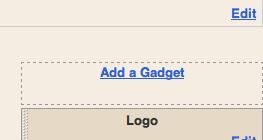 Blogger - Add Gadget