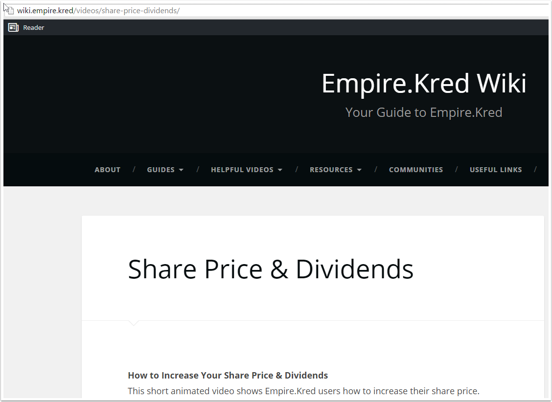 Playing the Game :Share Prices and Dividends
