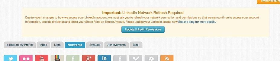 If you receive this message please review and update your LinkedIn connection.
